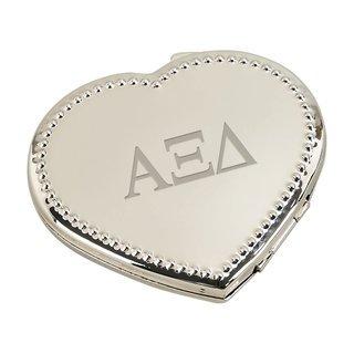 Alpha Xi Delta Heart Shaped Classic Compact