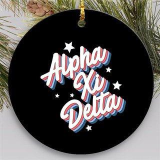 Alpha Xi Delta Holiday Flashback Ornaments