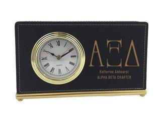 Alpha Xi Delta Horizontal Desk Clock