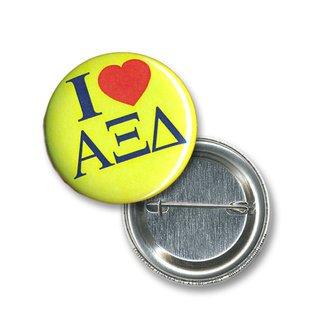 Alpha Xi Delta I Love Mini Sorority Buttons