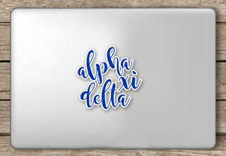Alpha Xi Delta Script Sticker