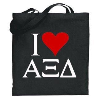 Alpha Xi Delta I Love Tote Bags