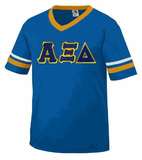 DISCOUNT-Alpha Xi Delta Jersey With Greek Applique Letters