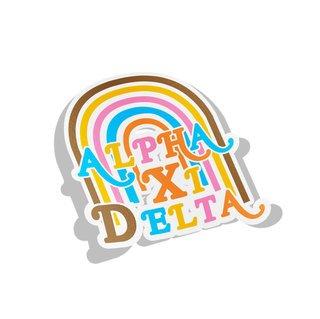 Alpha Xi Delta Joy Decal Sticker