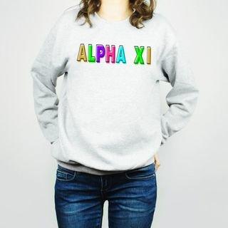 Alpha Xi Delta Leah Crew Sweatshirt