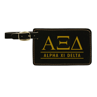 Alpha Xi Delta Leatherette Luggage Tag