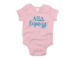 Alpha Xi Delta Legacy Baby Outfit Onesie