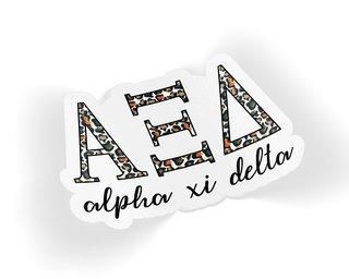 Alpha Xi Delta Leopard Sticker