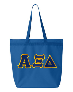 DISCOUNT-Alpha Xi Delta Lettered Game Day Tote