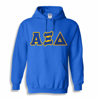 Alpha Xi Delta Lettered Greek Hoodie- MADE FAST!