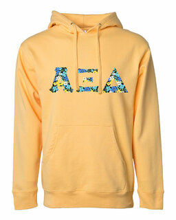 Alpha Xi Delta Lettered Independent Trading Co. Hooded Pullover Sweatshirt
