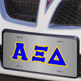 Alpha Xi Delta Lettered License Cover