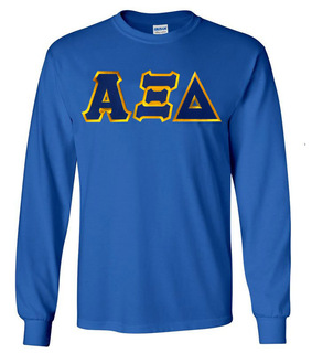 Alpha Xi Delta Lettered Long Sleeve Shirt