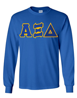 Alpha Xi Delta Lettered Long Sleeve Tee- MADE FAST!