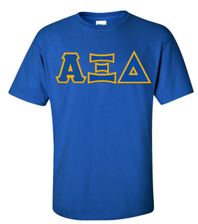 Alpha Xi Delta Sewn Lettered Shirts