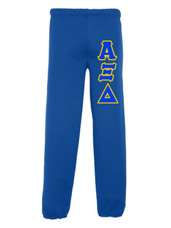 Alpha Xi Delta Lettered Sweatpants