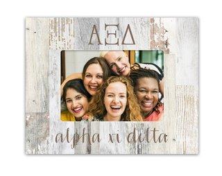 Alpha Xi Delta Letters Barnwood Picture Frame