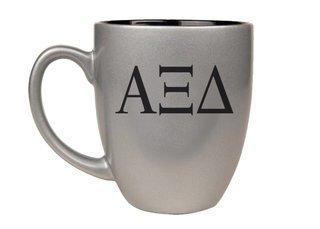 Alpha Xi Delta Letters Engraved Bistro Mug