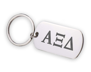 Alpha Xi Delta Letters Stainless Keychain