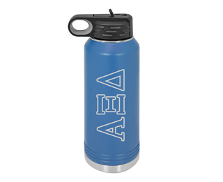 Alpha Xi Delta Letters Stainless Water Bottle