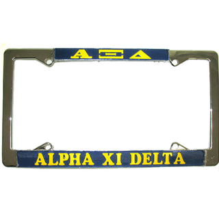 Alpha Xi Delta License Plate Frame