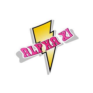 Alpha Xi Delta Lightning Bolt Decal