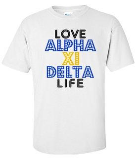 Alpha Xi Delta Love Life Tee