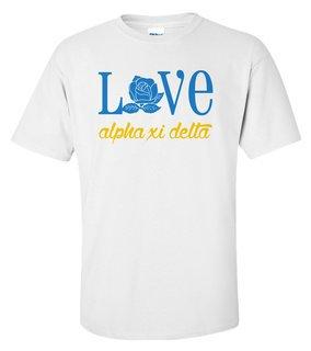 Alpha Xi Delta Love Mascot T-Shirt