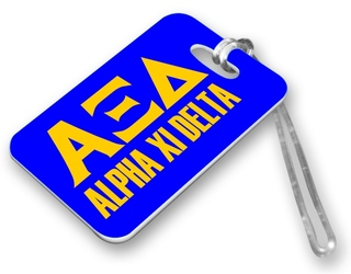 Alpha Xi Delta Luggage Tag