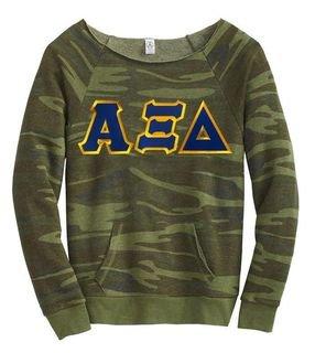 Alpha Xi Delta Maniac Camo Fleece Sweatshirt