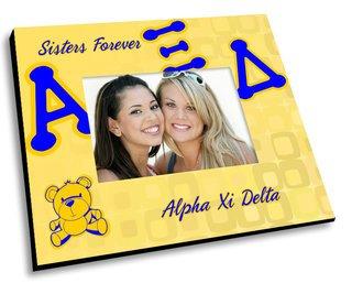 Alpha Xi Delta Mascot Color Picture Frame