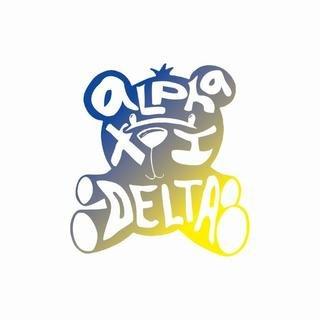 Alpha Xi Delta Mascot Greek Letter Sticker