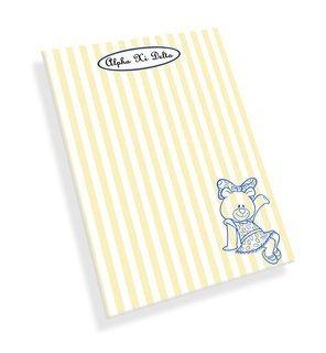 Alpha Xi Delta Mascot Notepad