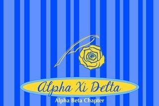 Alpha Xi Delta Mascot Tablecloth