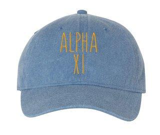 Alpha Xi Delta Mod Pigment Dyed Baseball Cap