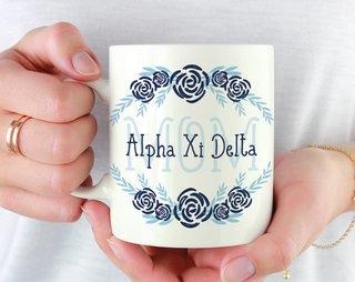 Alpha Xi Delta Mom Floral Mug