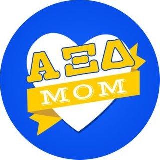 Alpha Xi Delta Mom Round Decals