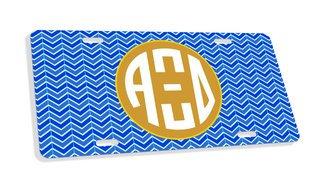 Alpha Xi Delta Monogram License Plate