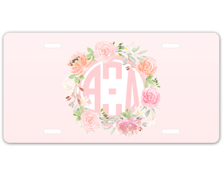 Alpha Xi Delta Monogram License Plate