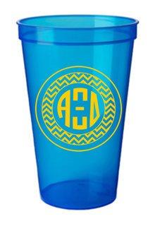 Alpha Xi Delta Monogrammed Giant Plastic Cup