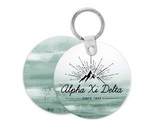 Alpha Xi Delta Mountain Key Chain