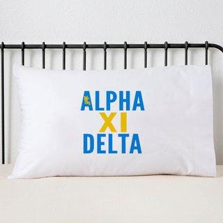 Alpha Xi Delta Name Stack Pillow Cover
