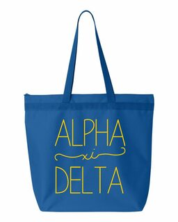 Alpha Xi Delta New Handwriting Tote Bag