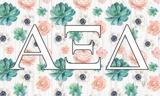 Alpha Xi Delta New Succulent Flag