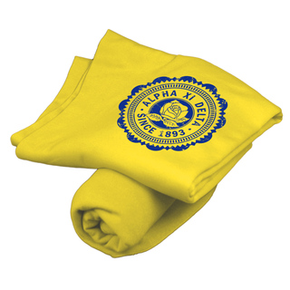 Alpha Xi Delta Old School Seal Sweatshirt Blanket