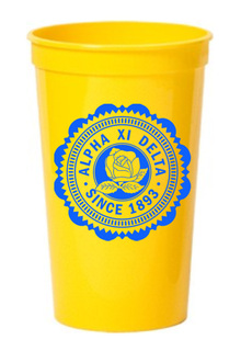 Alpha Xi Delta Old Style Classic Giant Plastic Cup