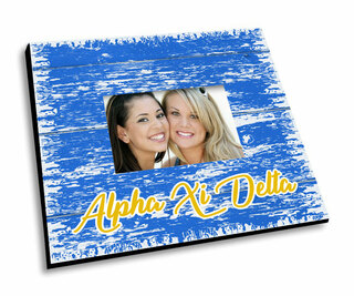 Alpha Xi Delta Painted Fence Picture Frame