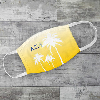 Alpha Xi Delta Palm Trees Face Mask