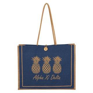Alpha Xi Delta Paradise Jute Bag