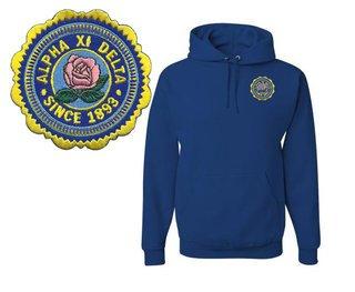 Alpha Xi Delta Patch Seal Hooded Sweatshirt